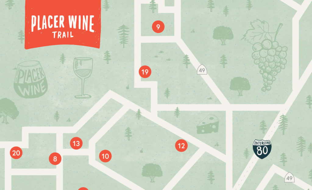 Placer Wine Trail Map